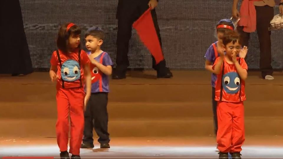 A still from the annual function at DhirbubAmbani School, Mumbai.