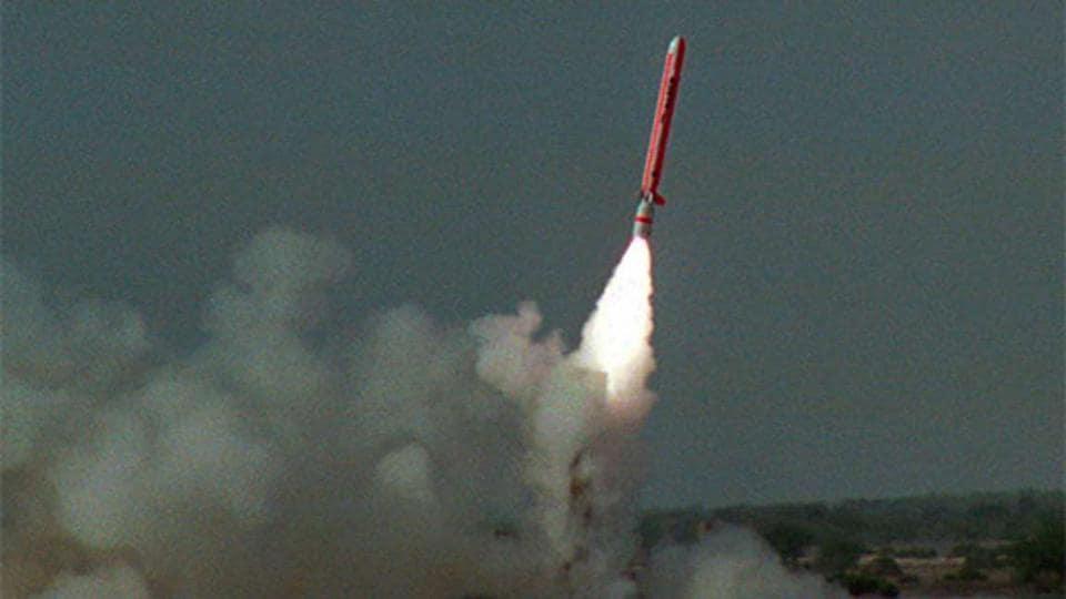 File photo of a test of Pakistan's Babur cruise missile.