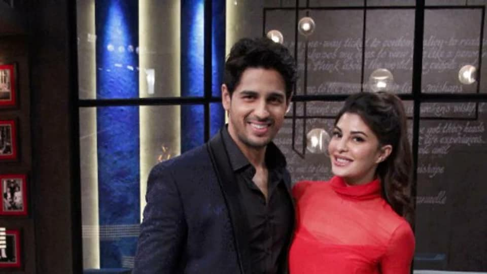 Sidharth Malhotra and Jacqueline Fernandez on Karan with Koffee.