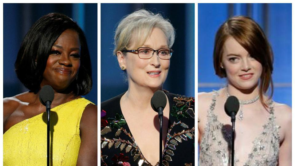 """This is a film for dreamers,"" Emma Stone said. ""For any creative person who has had a door slammed in their face, metaphorically or literally ... I share this with you."" Along with Meryl Streep, Viola Davis and Ryan Gosling, she gave one of the best speeches of the show."