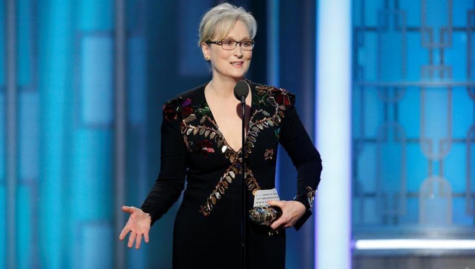 Meryrl Streep,Meryrl Streep speech,Attacks on media