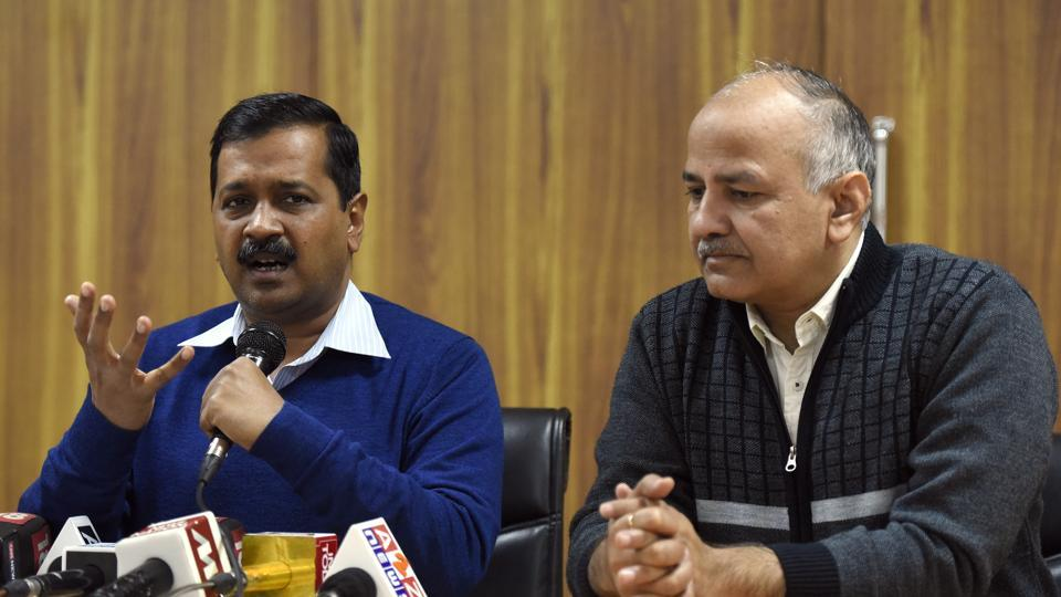 File photo of AAP convener and Delhi chief minister Arvind Kejriwal and deputy chief minister Manish Manish Sisodia.