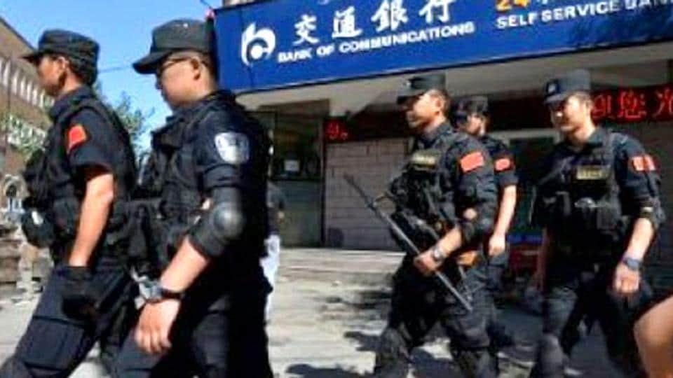 Xinjiang,Rioters,Chinese police