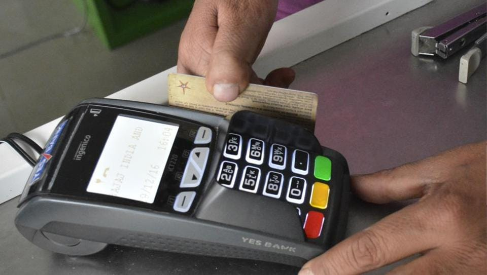 State Bank of India,Debit card,Less cash economy