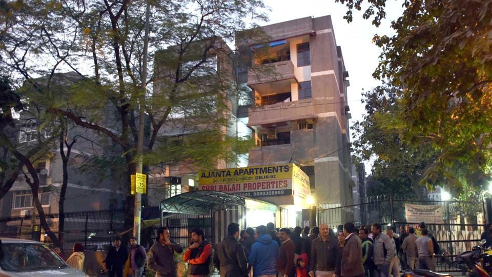 The apartment where the incident took place onSunday. RahulMatta's entry to the apartment was banned a few months ago.