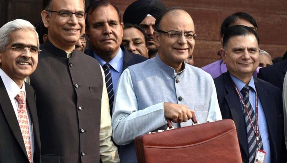 Finance minister Arun Jaitley ahead of the budget presentation at Parliament House in New Delhi, in this file photo from February 29, 2016.