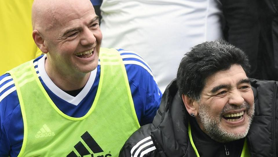 Diego Maradona backed FIFAPresident Gianni Infantino's controversial proposal to expand the World Cup to 48 teams, a day before world football's powerful governing council faces a key decision on the issue