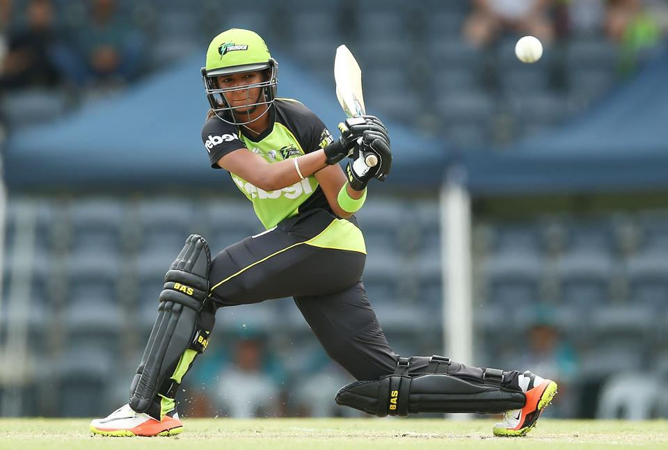 India's Harmanpreet Kaur plays for Sydney Thunder against Brisbane Heat in the women's Big Bash League in Sydney on January 2. The all-rounder and her India team mate Smriti Mandhana have been asked to return and join the national training camp.
