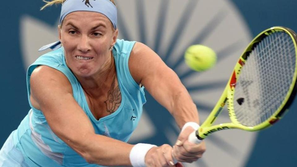 Russia's Svetlana Kuznetsova lost to Anastasia Pavlyuchenkova in an all-Russian battle in the Sydney International tennis tournament