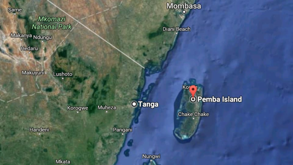The vessel was en route from Tanga in mainland Tanzania to Pemba, an island in the Zanzibar archipelago in the Indian Ocean.