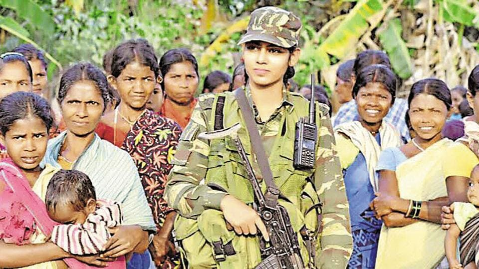 Usha Kiran,27, is CRPF's first woman officer to be posted in the region notorious for being a Maoist hotbed.