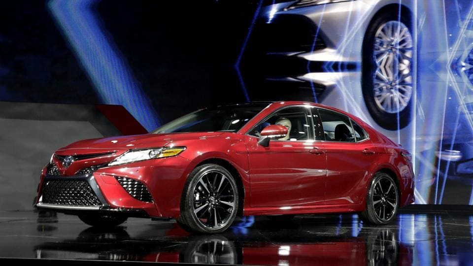 The best-selling passenger car in the United States for the past 15 years, the 2018 Toyota Camry got a major makeover at the 2017 NAIAS. Camry sales fell 9.5% in 2016 from the year before, reflecting pressure from the shift to SUVs.  (AP)