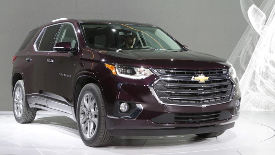General Motors Co  highlighted two redesigned sport utility vehicles in Detroit, including a new generation of the Chevrolet Traverse, a family hauling SUV that will compete with the likes of the Ford Explorer, Honda Pilot, Toyota Highlander and Jeep Grand Cherokee.  (REUTERS)