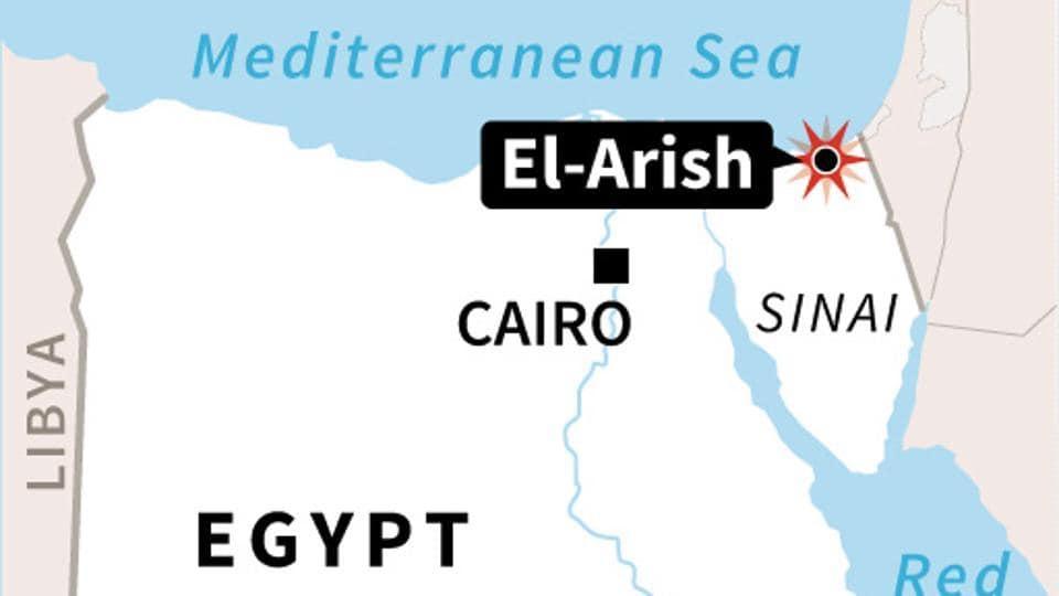Map locating Monday's truck bomb attack El-Arish, in the Sinai peninsula, Egypt.