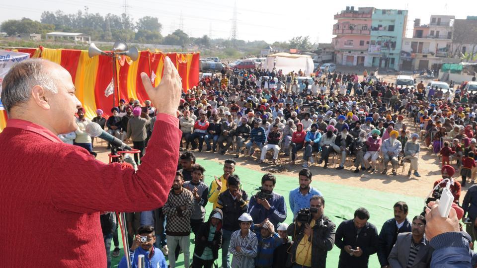 Arvind Kejriwal,Manish Sisodia,Narinder Singh Shergill