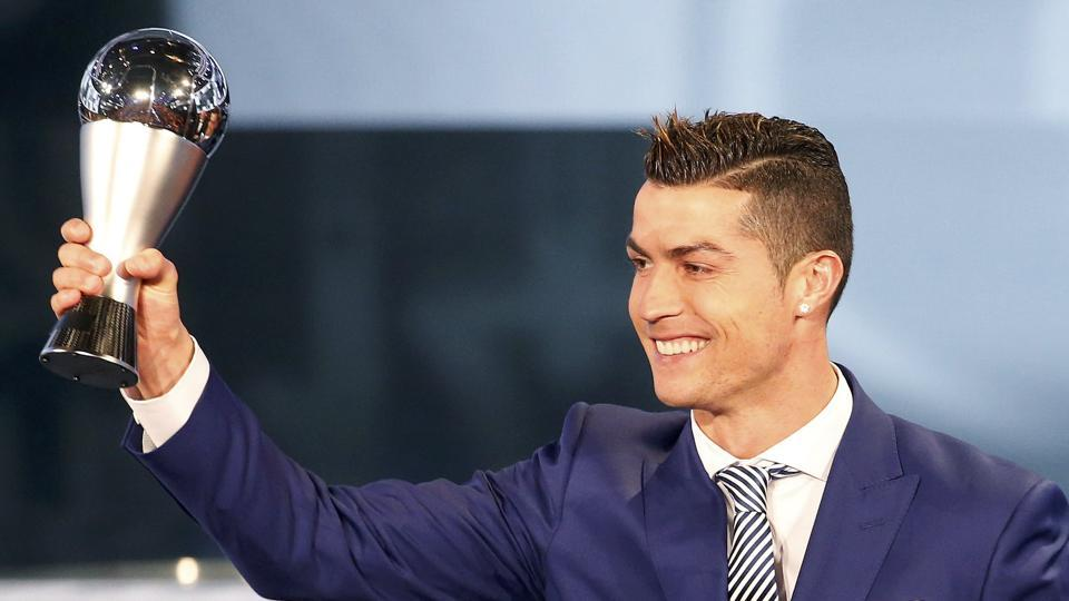 Cristiano  Ronaldo won the FIFA Best player of the year of the award ahead of the likes of Lionel Messi and Antoine Griezmann. (REUTERS)