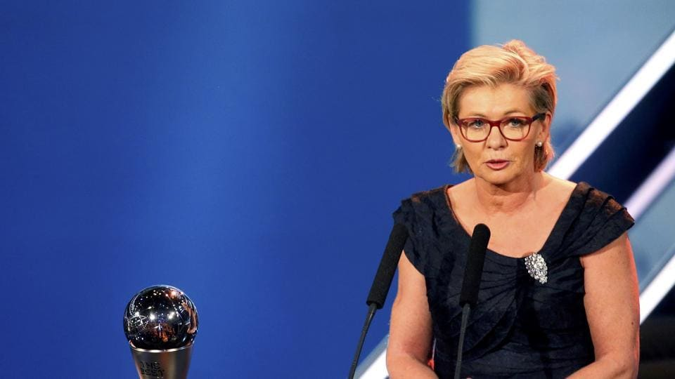 Silvia Neid  of Germany won the  Women's Coach of the Year (REUTERS)