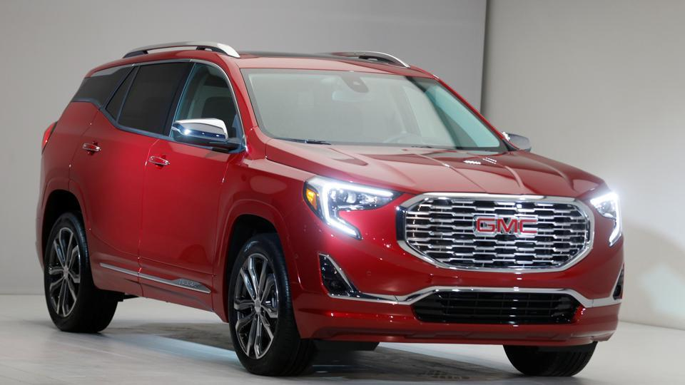 General Motors Corp introduces the 2018 Terraine SUV before the start of press days. The compact SUV gets its first major redesign, sharing major components with the redesigned Chevrolet Equinox. (REUTERS)