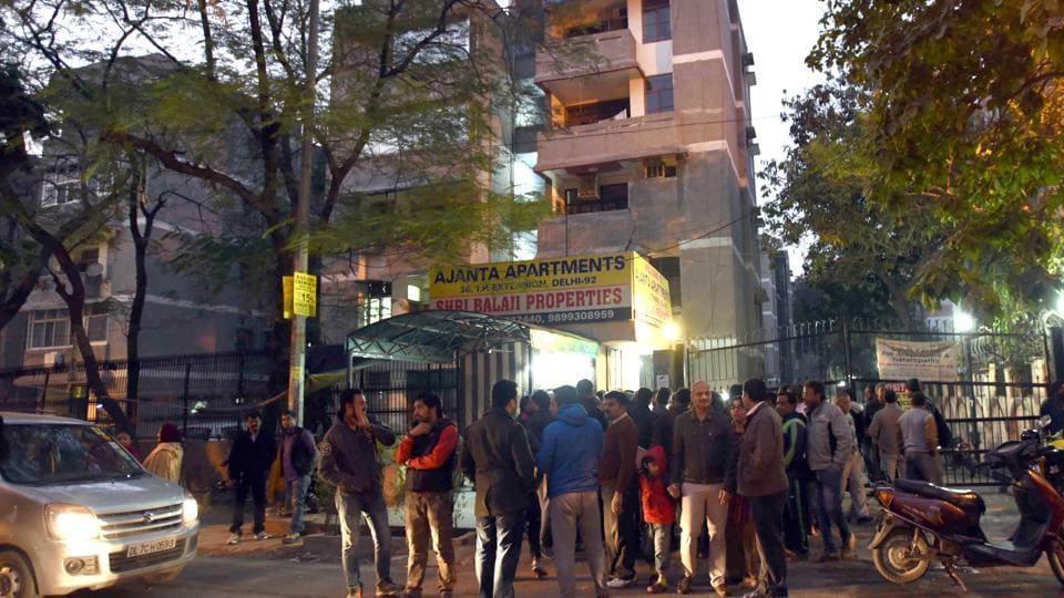 Rahul Matta killed his father and stabbed three others at Ajanta Apartments in Delhi.