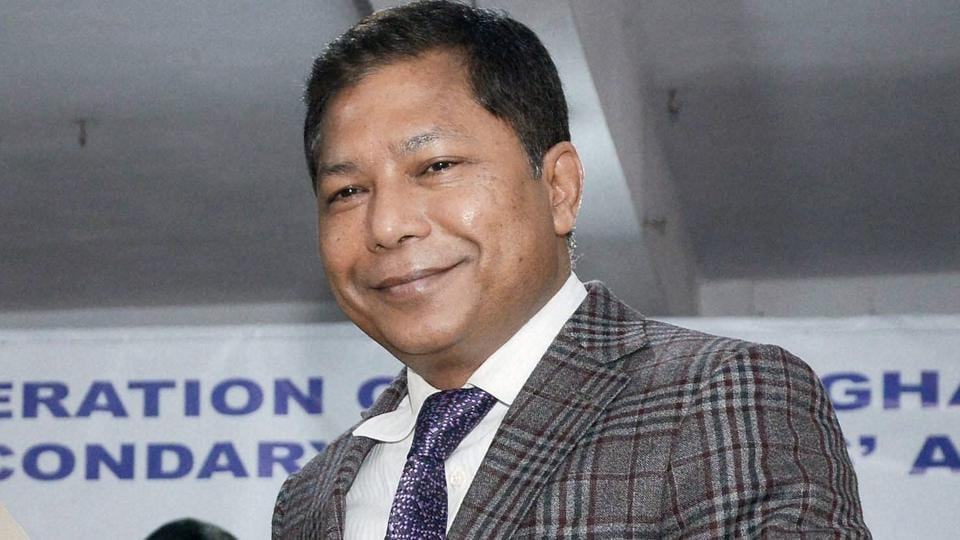 Meghalaya CM Mukul Sangma during an event in Nongmynsong, in Shillong on Tuesday. PTI Photo (PTI12_6_2016_000183A)