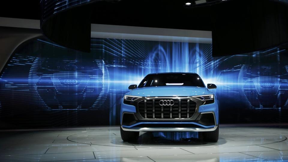 Audi, the high-volume luxury brand of Volkswagen AG showed a concept of a new, large sport utility vehicle, the Audi Q8, while also unveiling a facelifted version of its SQ5 mid-size SUV and redesigned A5 cabriolet. (REUTERS)