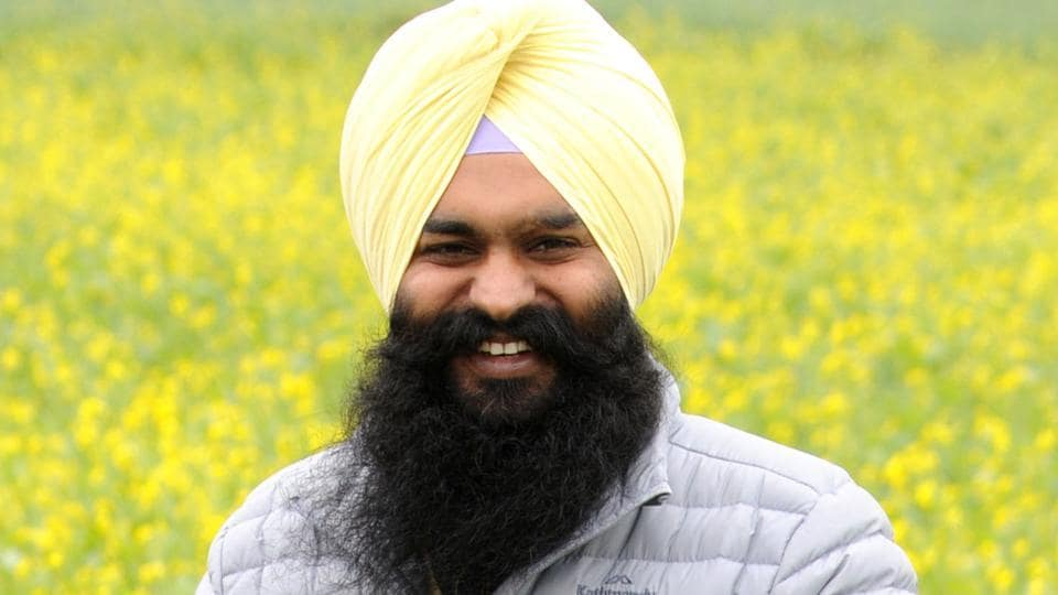 HARPING ON THE GOODWILL AMONG THE YOUTH: Satbir Singh Khatra is trying to strike a rapport with the urban voters of his segment.