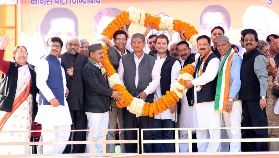 Uttarakhand election.,Harish Rawat,Rahul Gandhi
