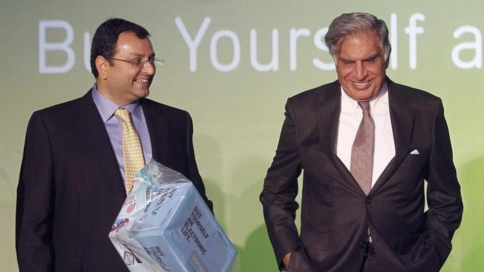 A file photo of Tata Group chairman Ratan Tata and former chairman Cyrus Mistry in Mumbai on April 23, 2012.