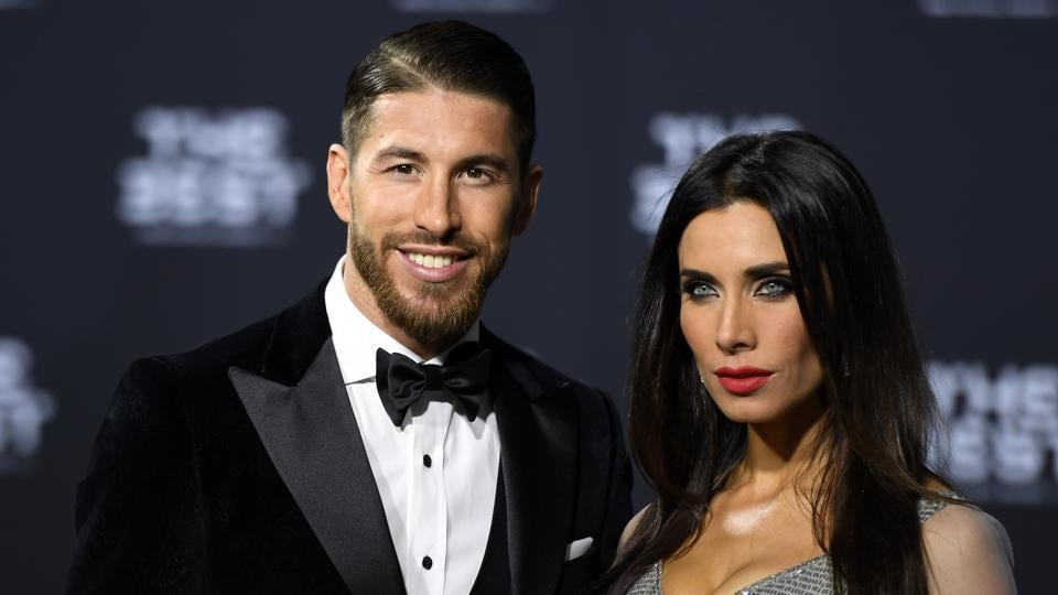 Sergio Ramos arrived at the function with his wife. (AP)