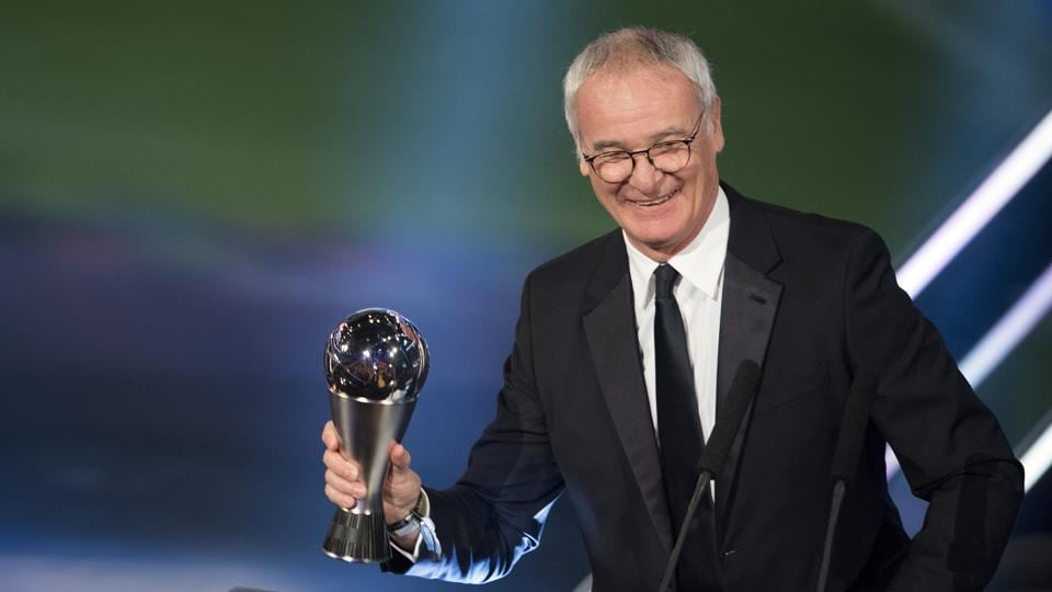Ranieri overcame a stiff competition from Zinedine Zidane and Fernando Santos to win the award. (AP)