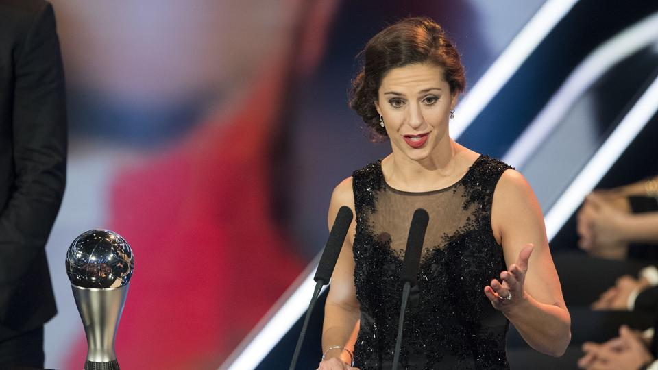 Carli Lloyd is a two-time Olympic gold medal winner and also a world cup winner and this award has added to her achievements. (AP)