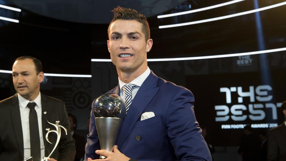 Cristiano Ronaldo defeated Lionel Messi and Antoine Griezmann to win the Best FIFA player of the year award.