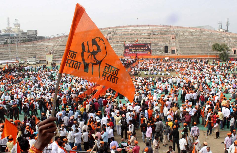 A 'Maratha Kranti Morcha' held in Nagpur on December 14.