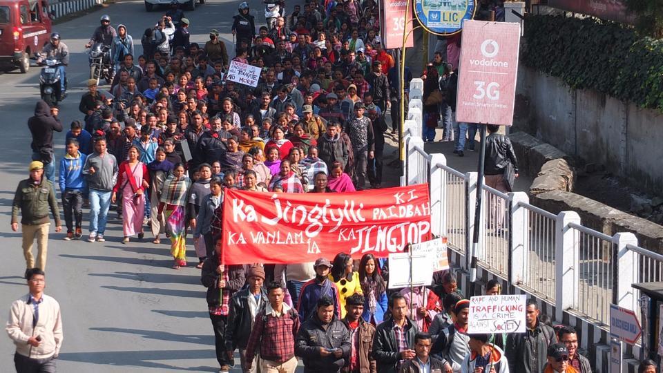 Crimes against women,Minor raped,Shillong protest