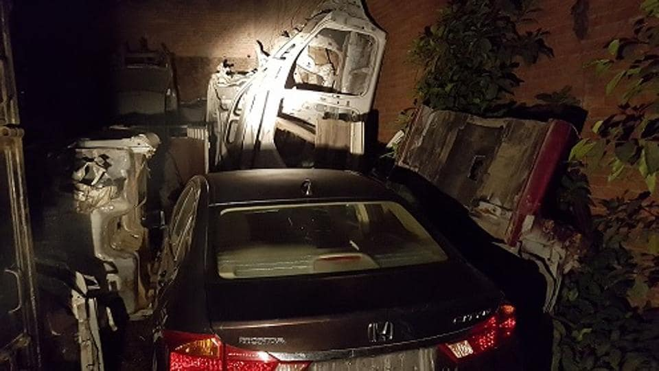 Delhi Police Find Mortuary Of Stolen Luxury Cars In Meerut Godown