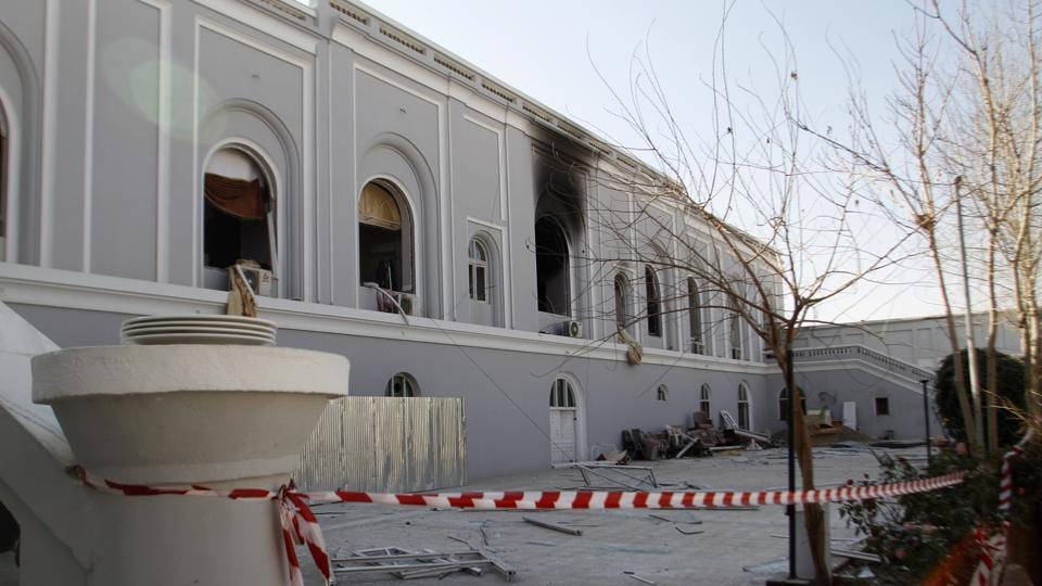 A view of the guesthouse after a bomb blast in Kandahar, Afghanistan, on January 11, 2017. The United Arab Emirates said five of its diplomats were killed in the bombing in southern Afghanistan the day before, the deadliest attack to ever target the young nation's diplomatic corps.
