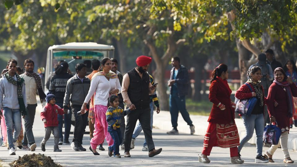 The Delhi Zoo saw visitors return after nearly three months since the zoological gardens was closed following Avian Flu scare. (Virendra Singh Gosain/HT PHOTO)
