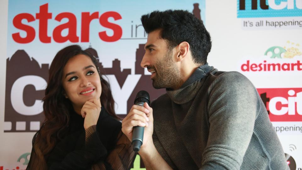 Aditya praised Shraddha for being optimistic on the sets. (amal ks/ht photo)