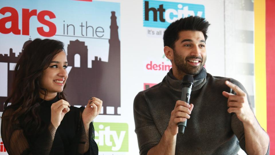 Aditya refrained from giving any relationship advice and joked about his track record of being bad at relationships. (amal ks/ht photo)