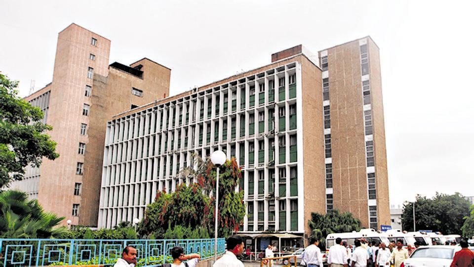 A building of private ward at campus of AIIMS in New Delhi.