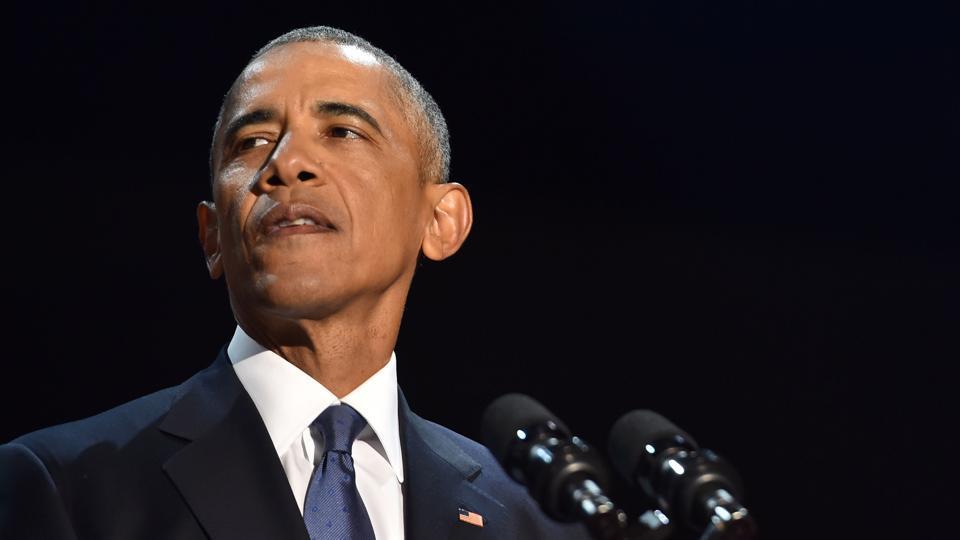 US President Barack Obama speaks during his farewell address in Chicago, Illinois.