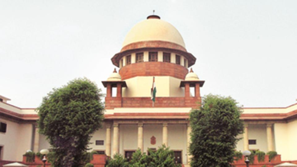 Supreme Court building in New Delhi.