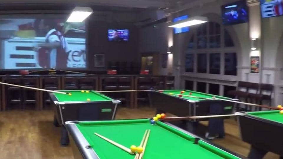 Snooker trick shot created at a sports bar in Bristol, England has become a rage on the social media.
