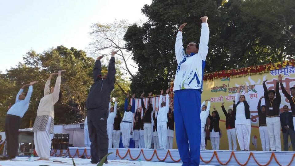 Surya Namaskar,Madhya Pradesh,Vivekananda birth anniversary
