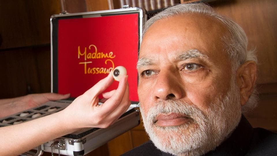It will bring about 90 wax statues but the focus will be on local celebrities. Narendra Modi sits for his own statue. (Facebook/Madame Tussauds)