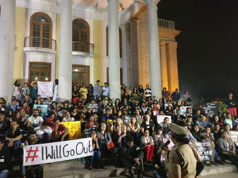 A gathering recently organised inBengaluru, as part of the #IWillGoOut campaign.