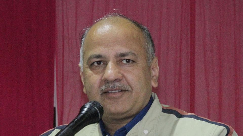 Delhi deputy chief minister and senior AAP leader, Manish Sisodia, during a meeting at Batala on Wednesday, January 11.