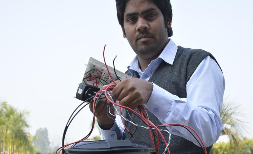Ghaziabad,dustbin,GSM system