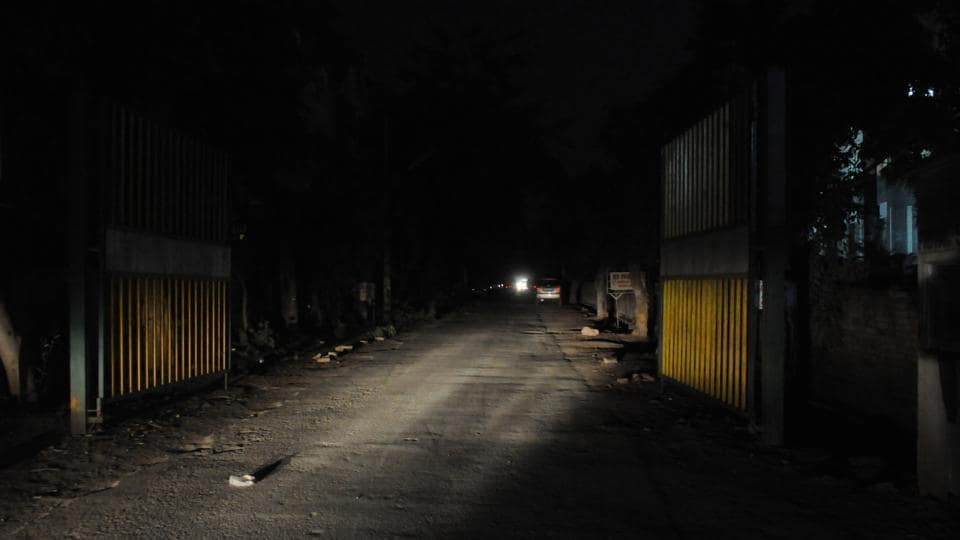 Several blocks of the residential area do not have a single functional streetlight.