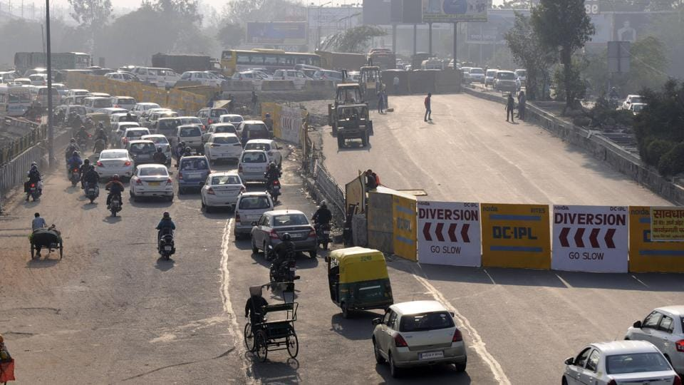 The traffic police conducted a trial run through on Thursday the 400m diversion created from Mahamaya flyover towards Kalindi Kunj.